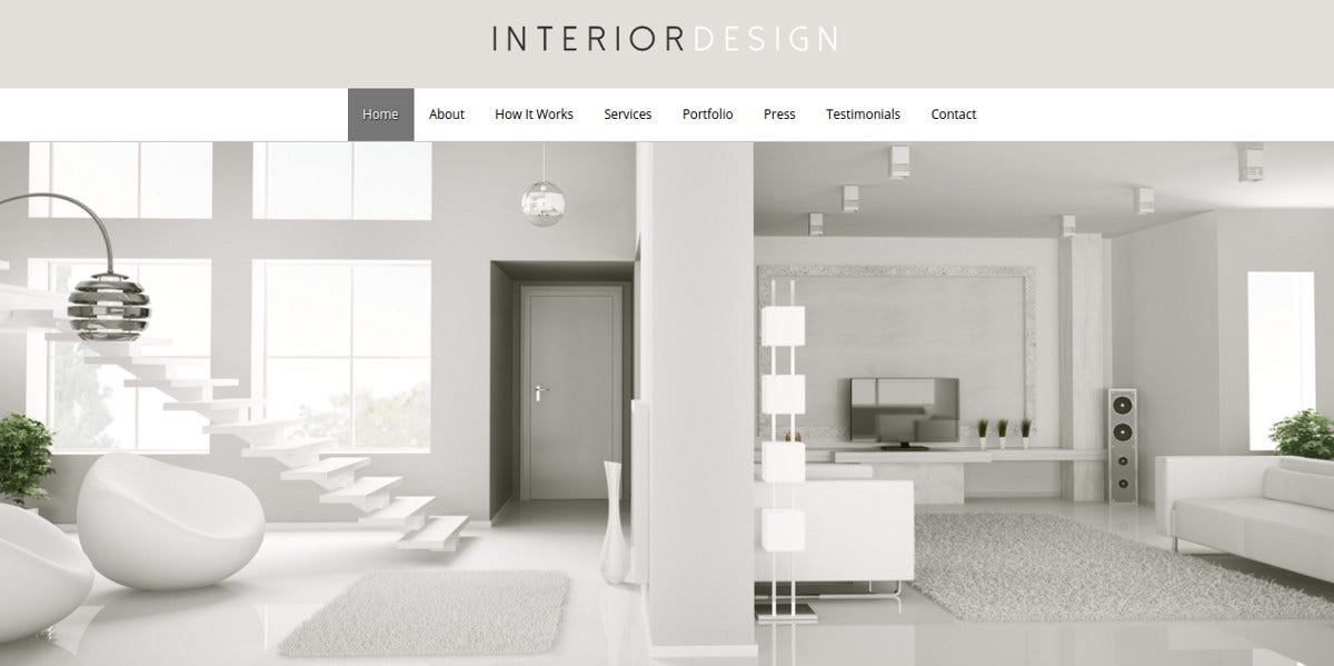 Best Interior Design WordPress Website Theme $75
