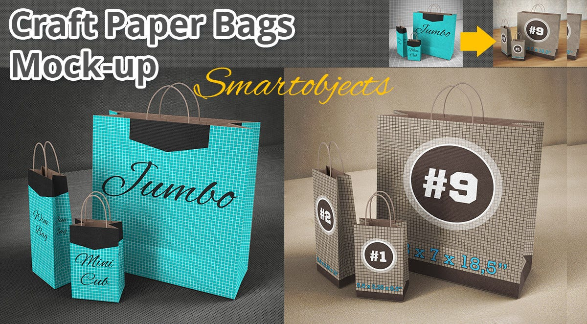 Shoping Paper Bag Mockup