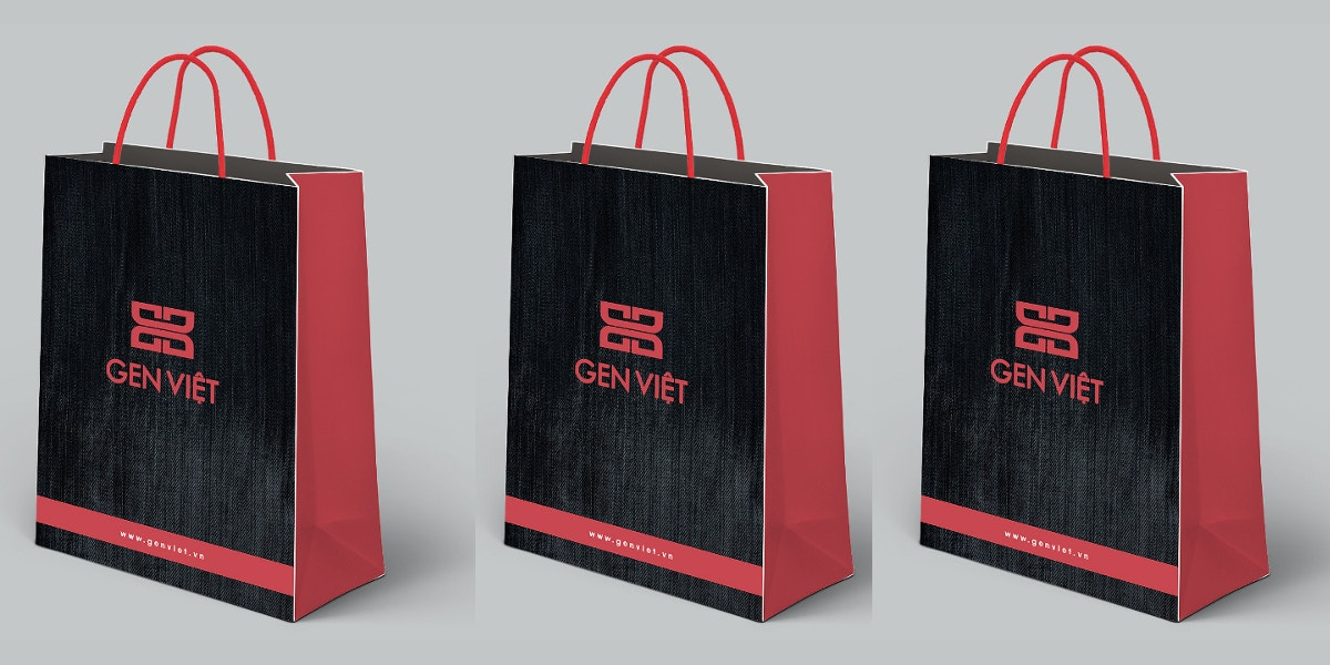 Shopping Bag Mockup with Clean Background