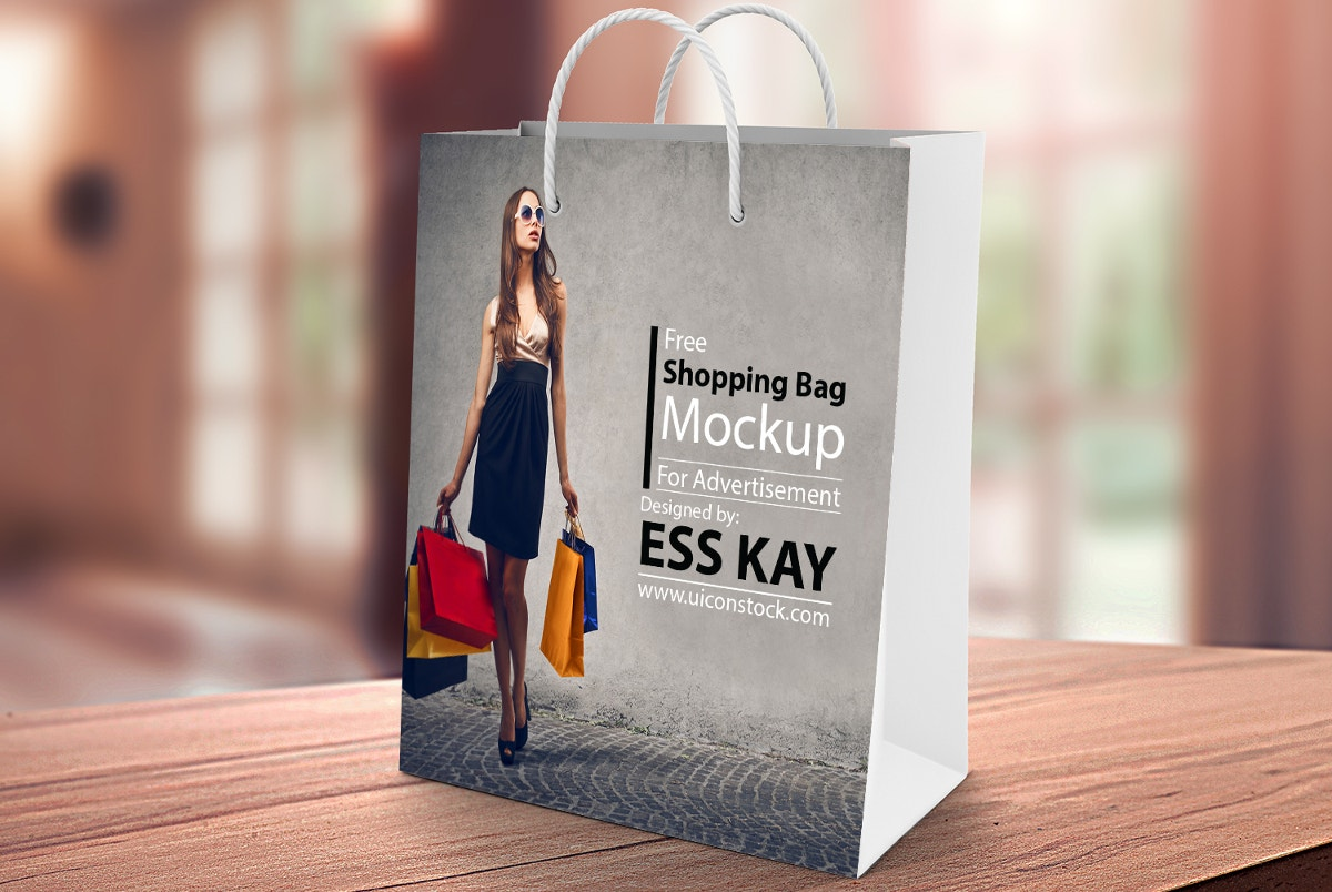 Colorful & Beautiful Shopping Bag Mockup