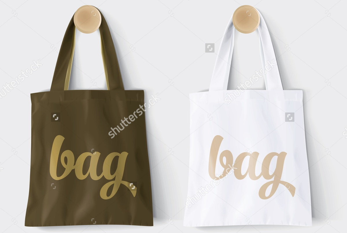 Cotton Paper Shopping Bag Mockup