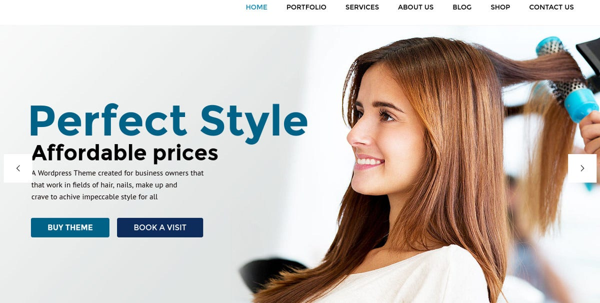 Hair Salon WordPress Website Theme $59