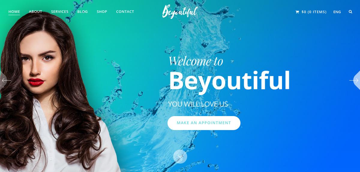 Beauty and Hair Salon WordPress Website Theme $59