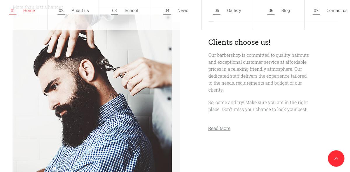Hair Salon Responsive Moto CMS Website Template $199