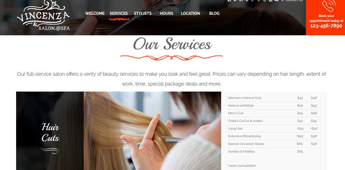 Beauty Hair Salon Bootstrap Theme $15