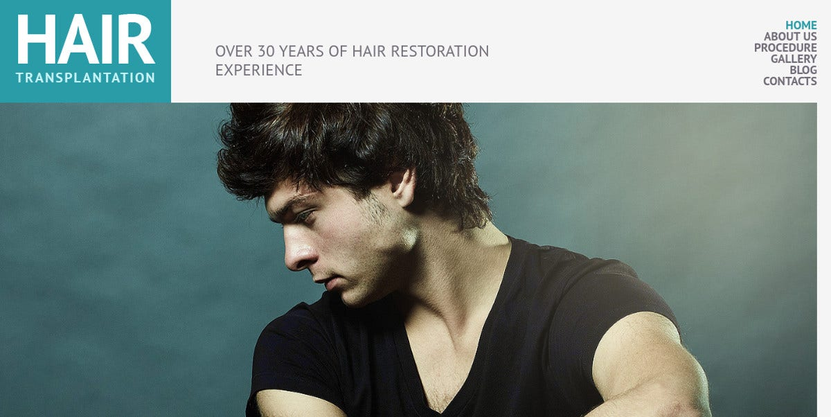 Hair Salon Responsive WordPress Website Theme $75