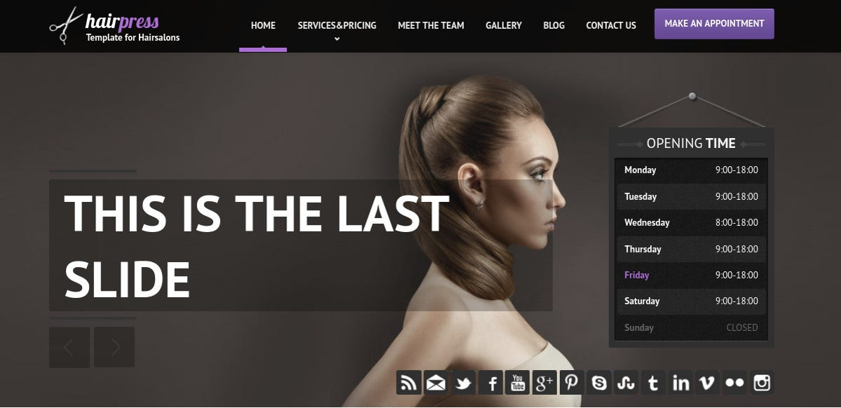 Salon Website Template. hair salon website templates template ...