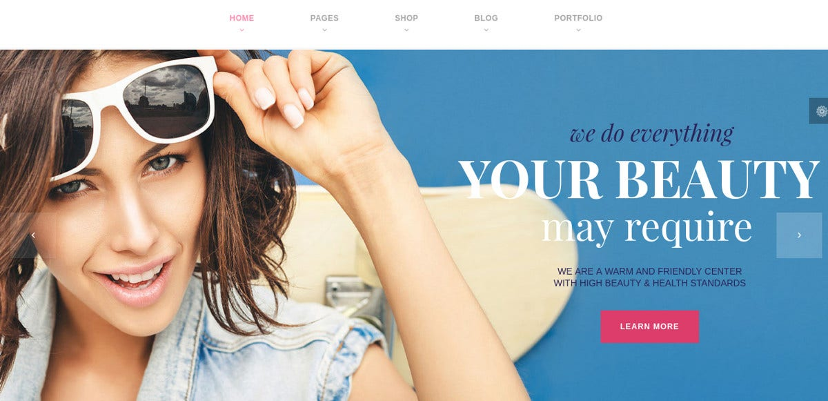 Hair & Spa Salon WordPress Website Theme $59