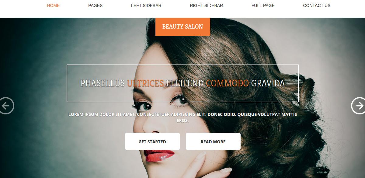 Hair Salon HTML Website Template
