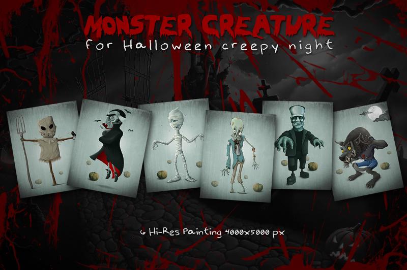 Creepy Halloween Monster Creature