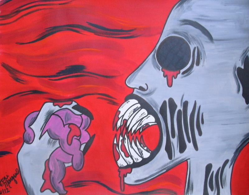 Halloween Monster Art Print