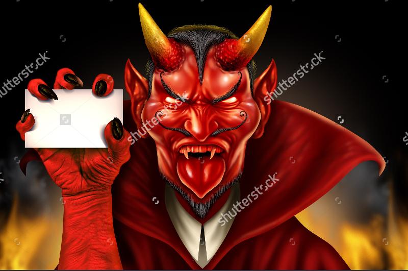 Red Demon Halloween Monster Creature