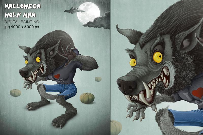 Wolf Man Halloween Creature