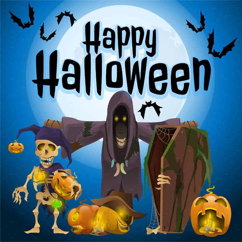 Halloween Skeleton Monster