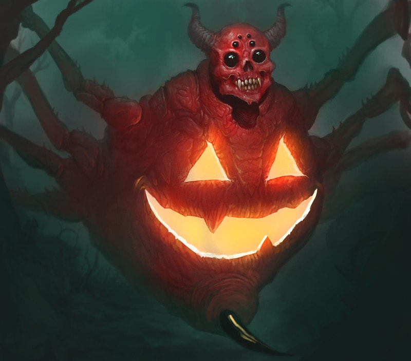 Spiderjack Halloween Monster Creature