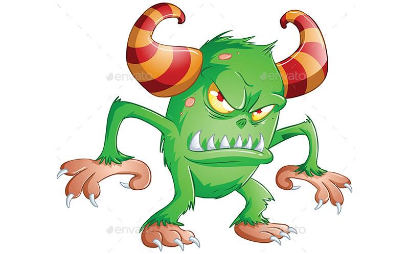 Angry Halloween Monster