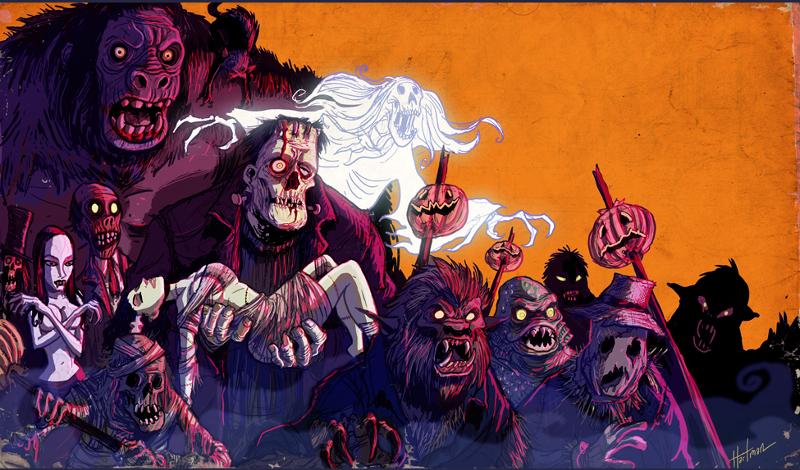 Halloween Monster Parade by Hartman