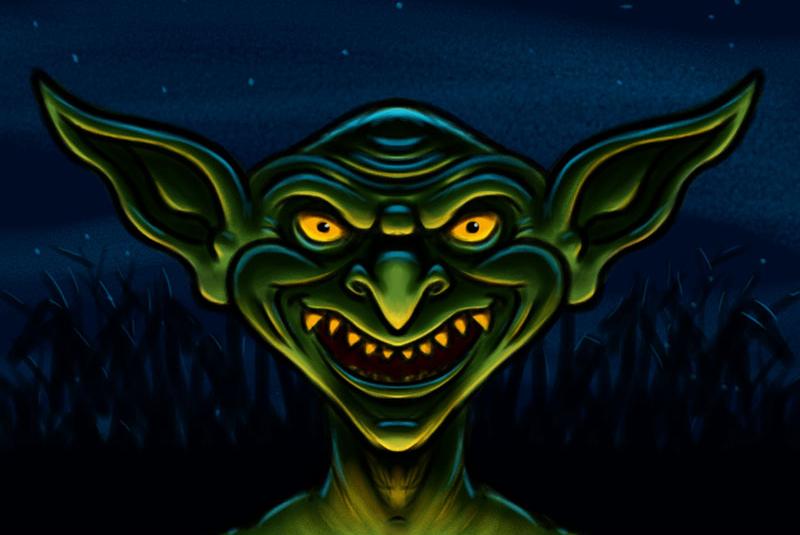 Goblin Cartoon Character Halloween Monster