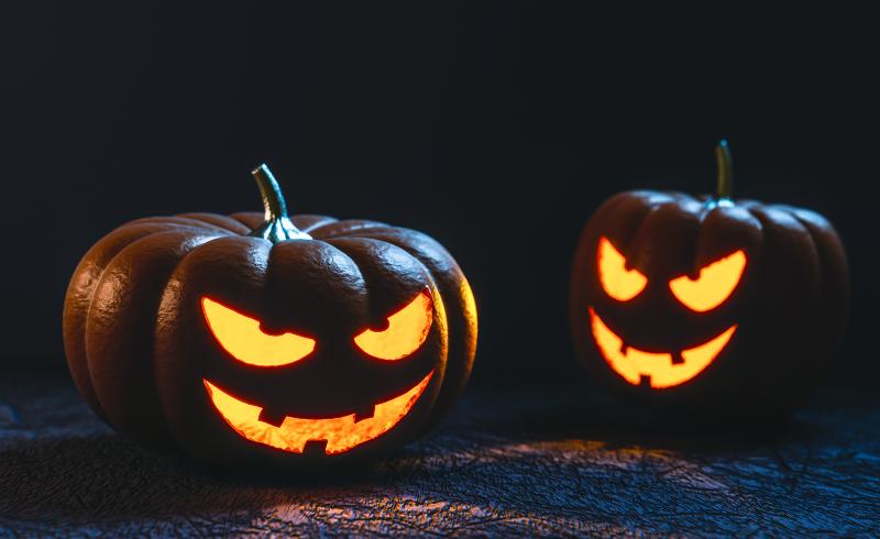 Shining Halloween Pumpkin Monster Creature