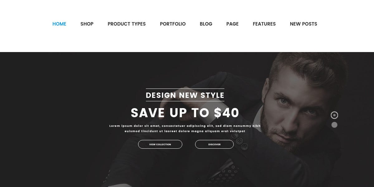 Responsive Fashion WordPress Website Theme $59