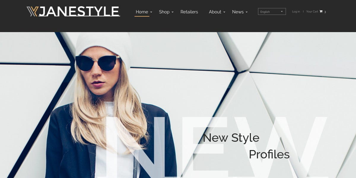 Fashion HTML Website Template $75