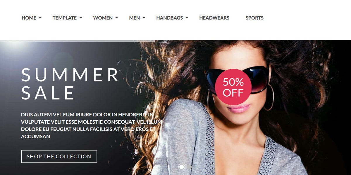 Fashion VirtueMart Joomla Website Template $48