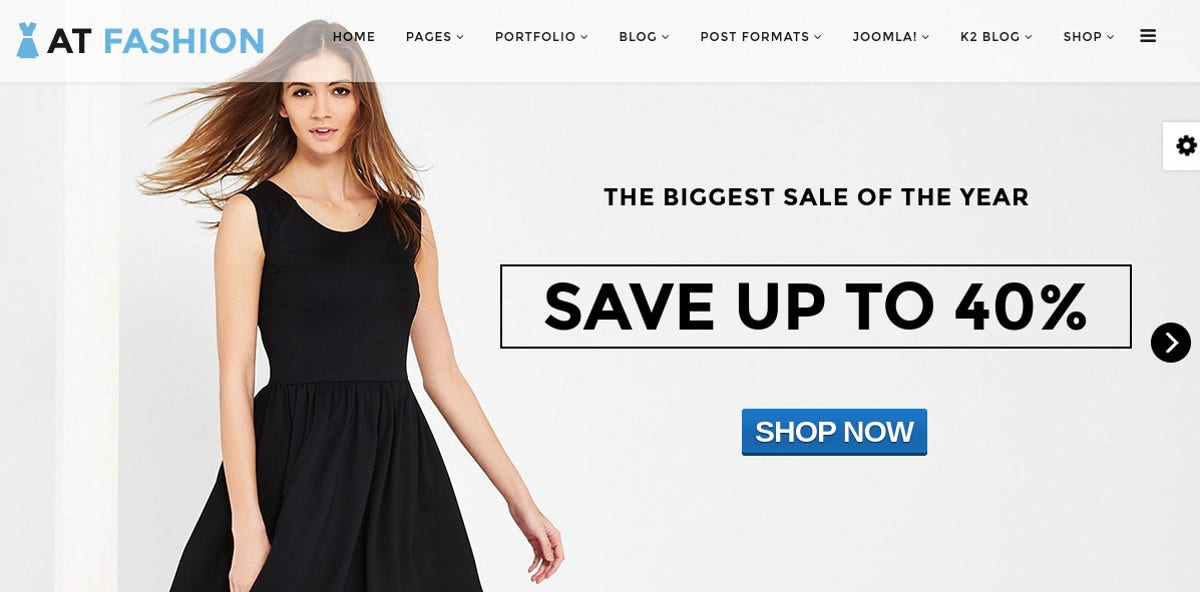 Fashion Shop Joomla Website Template $19