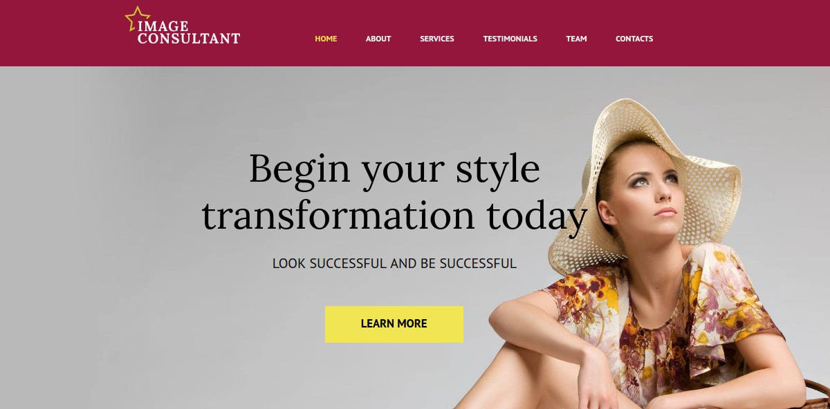 Fashion Moto CMS HTML Website Template