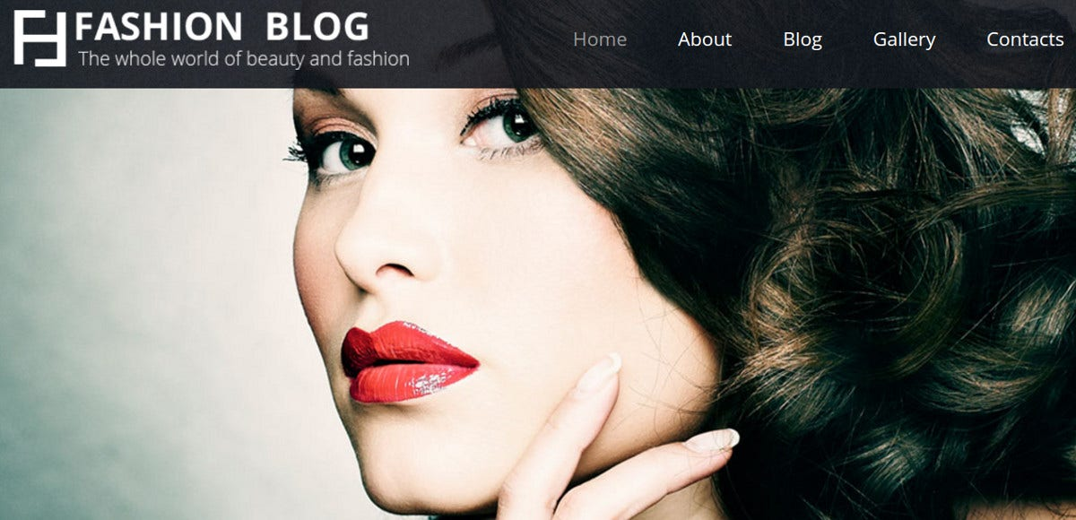 Fashion Blog Joomla Website Template $75