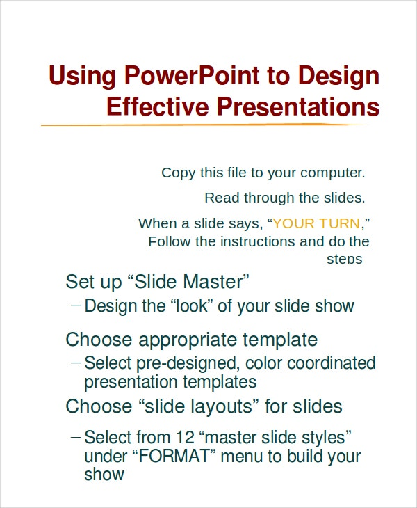 MicroSoft PowerPoint Template