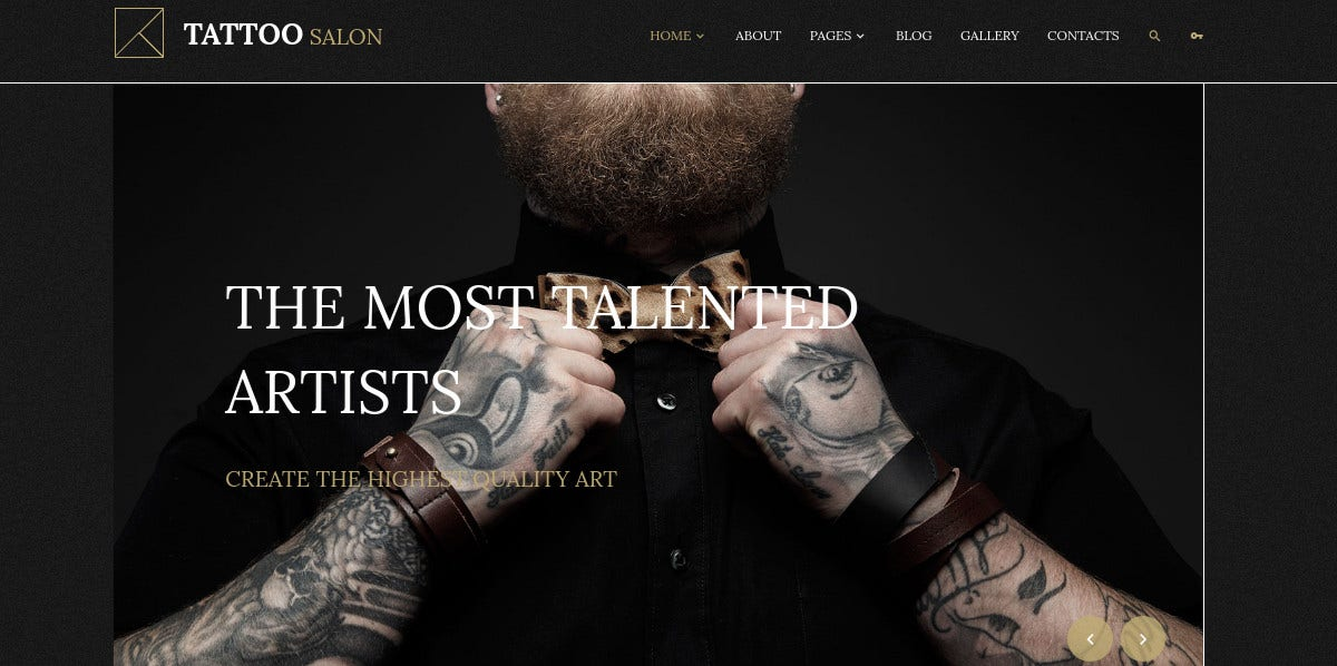 tattoo salon studio blog joomla template 75