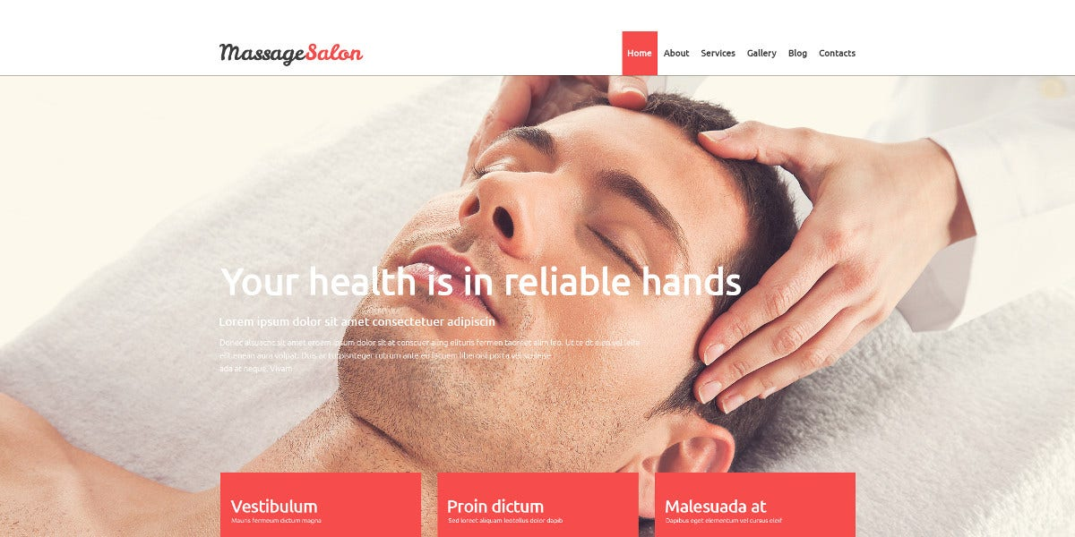 premium massage salon blog joomla template 75