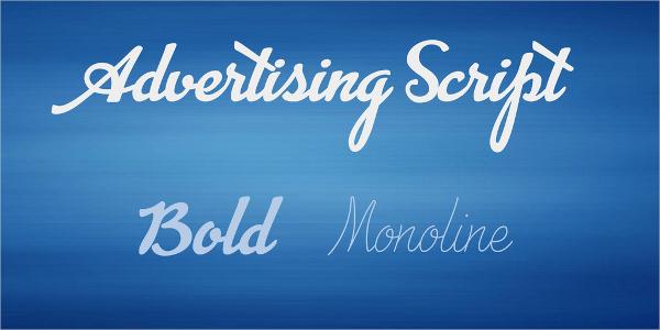 advertising script font family