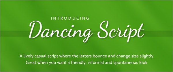 dancing script font family