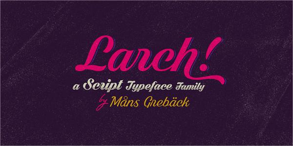 dark larch script font