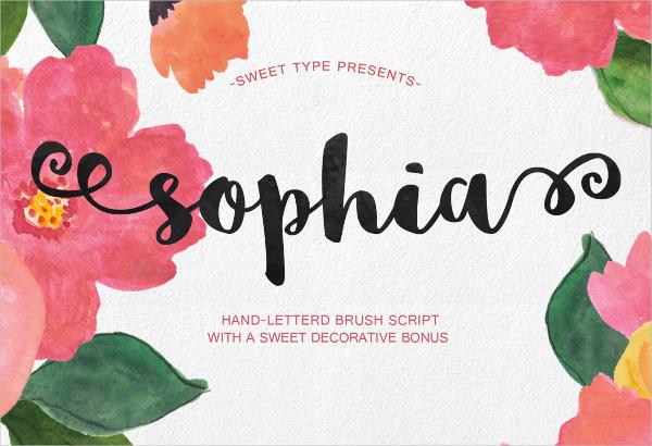free handlettered brush script font