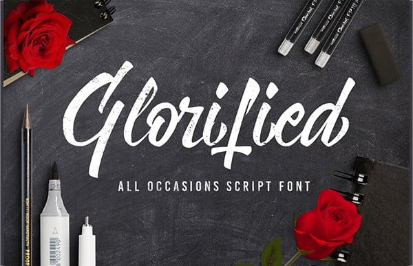 glorified script font