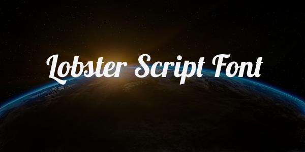 lobster script font