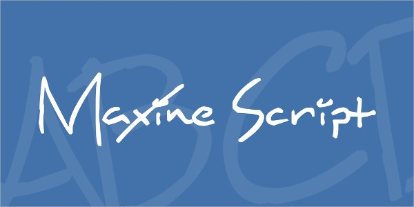 Maxine Script Font