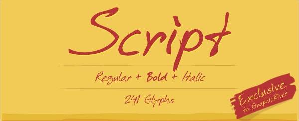 Regular Script Font