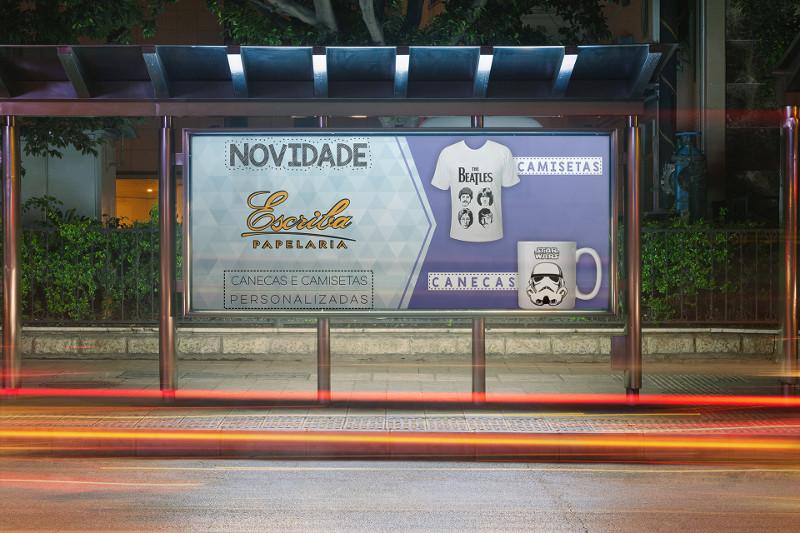 Classic Bus Stop Billboard