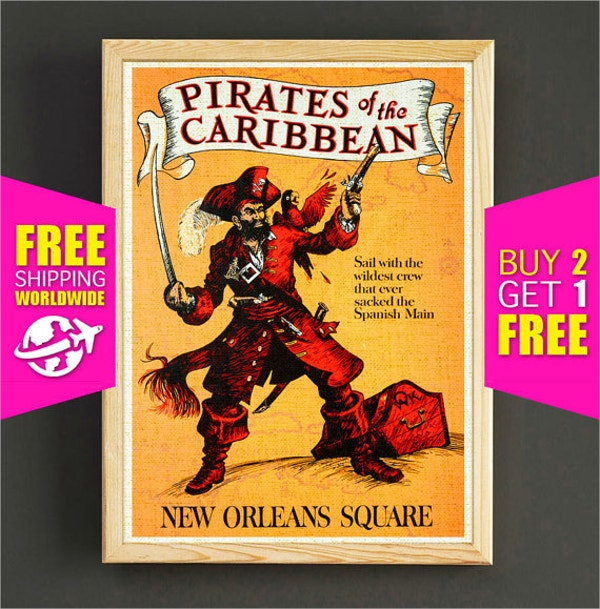 disney poster of pirates of the caribbean