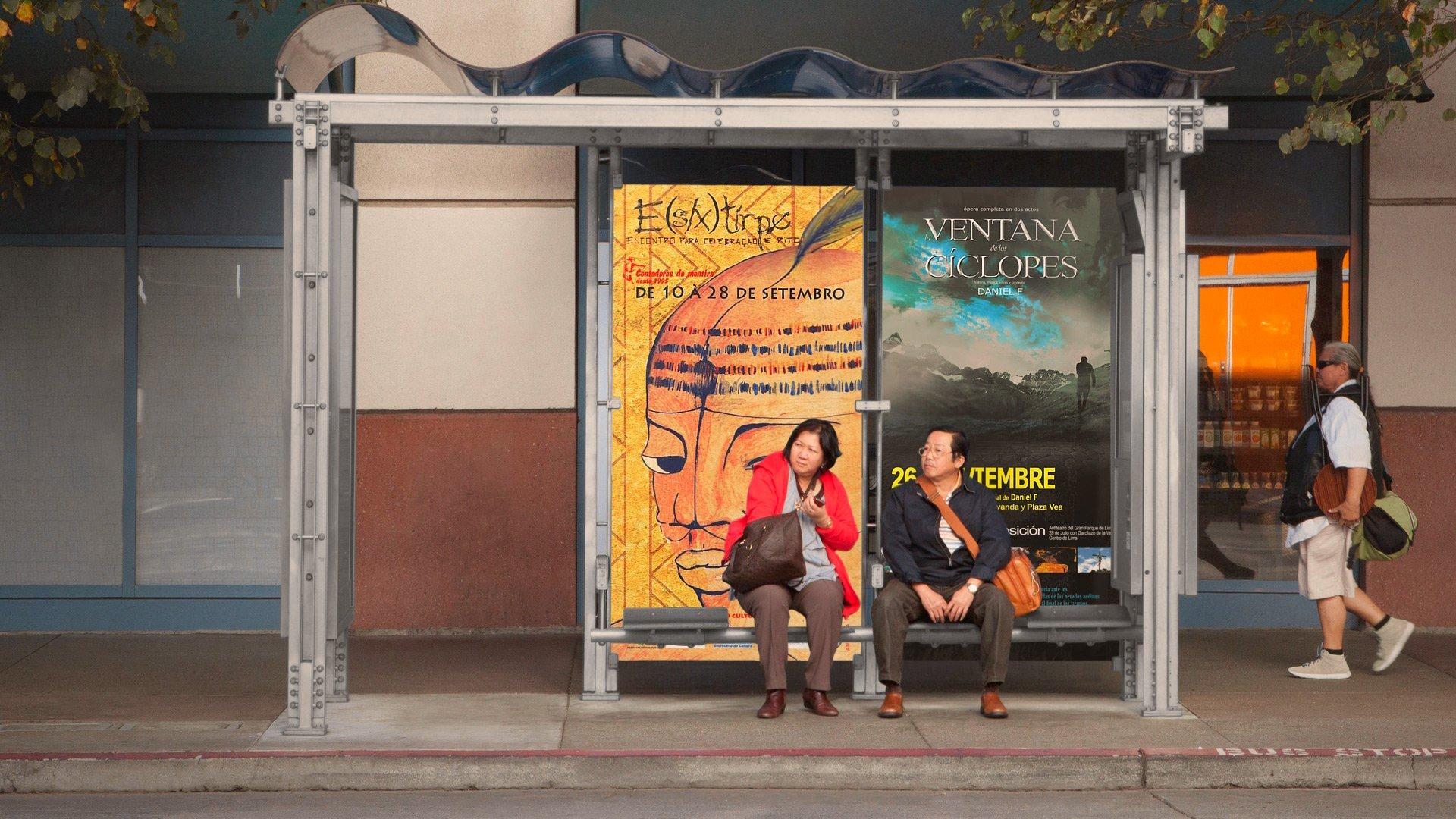 bus stops billboard mock ups