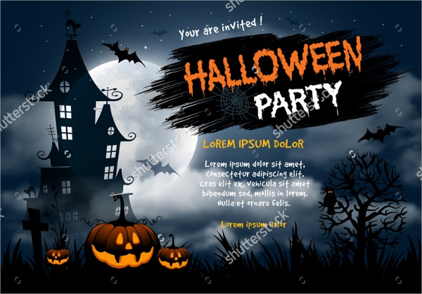 Editable Halloween Night Party Invitation