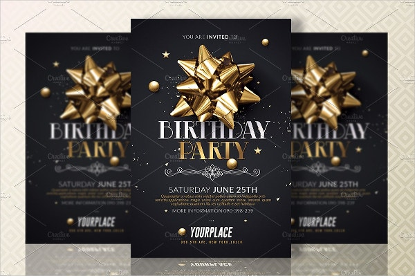 Party Invitations Free PSD Vector AI EPS Format Download - Birthday party invitation flyer template