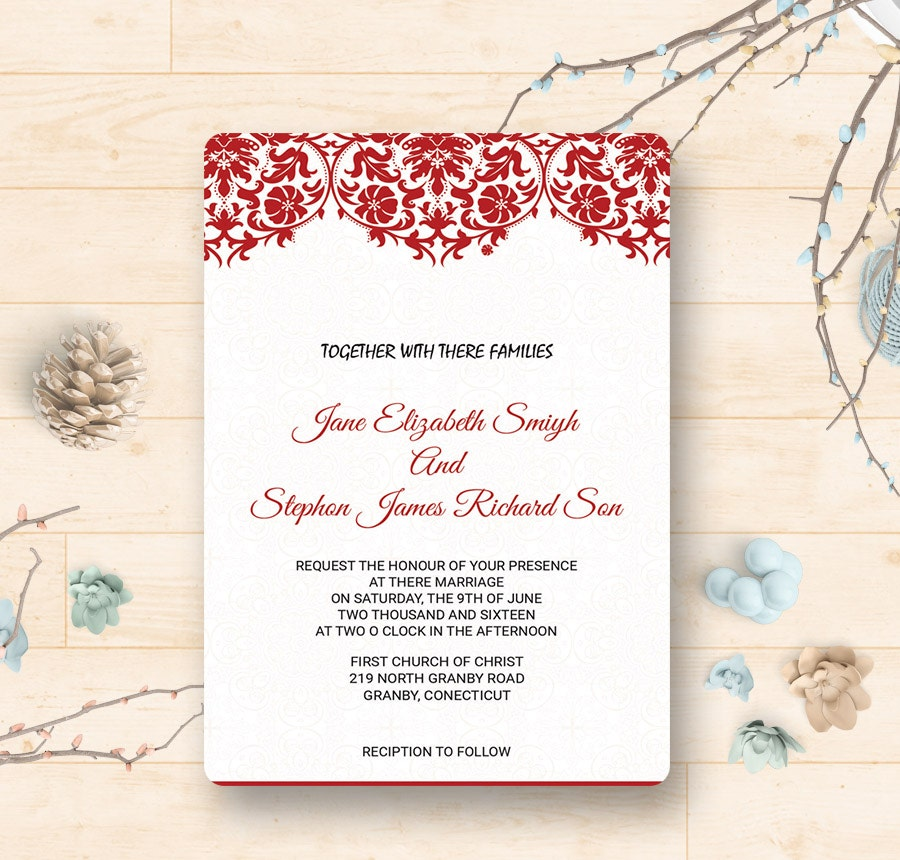 9+ Free Wedding Invitation Templates - Traditional, Modern, Royal ...