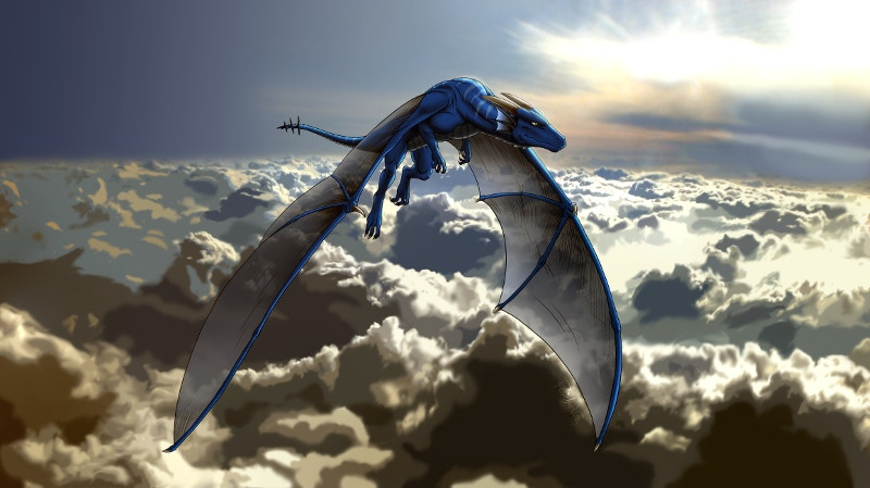 Dragon Under Clouds Art