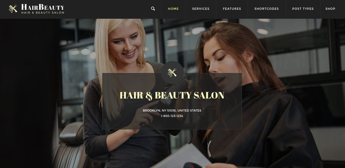 beauty hair salon wordpress blog theme 59