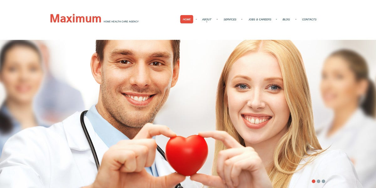 Medical Responsive WordPress Theme $75