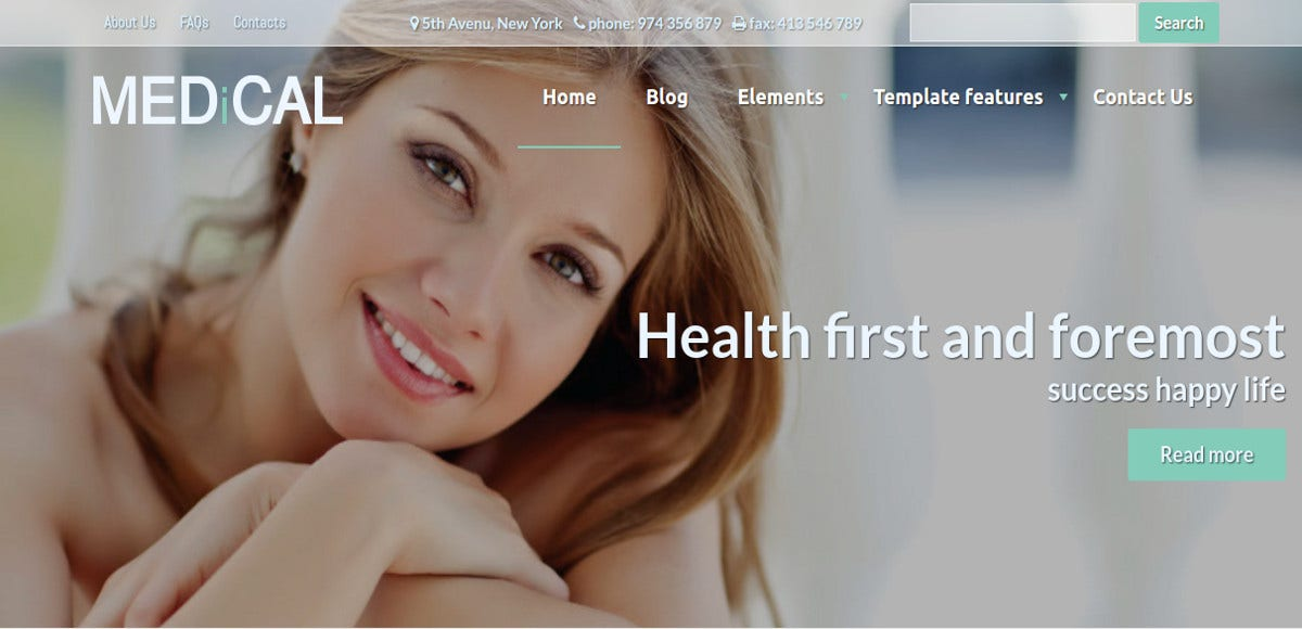 Medical Healthcare Drupal Website Theme $59
